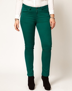 Color denim for the mature woman - ASOS CURVE Exclusive Skinny In Green