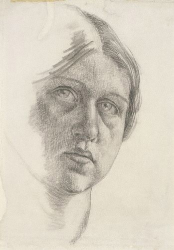 Dora Carrington, self portrait of the Bloomsbury painter