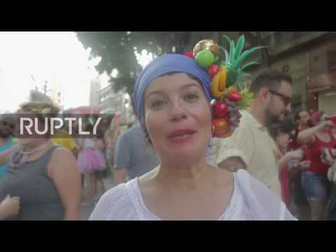Brazil: Politics and partying collide at Sao Paulo's annual soviet parade - YouTube