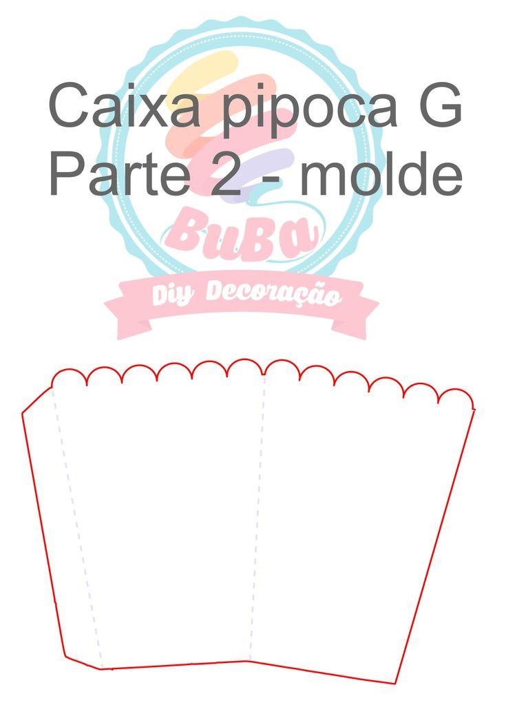 Molde 2 Pipoca G Decoração de festa tema cinema , faça você mesmo.
