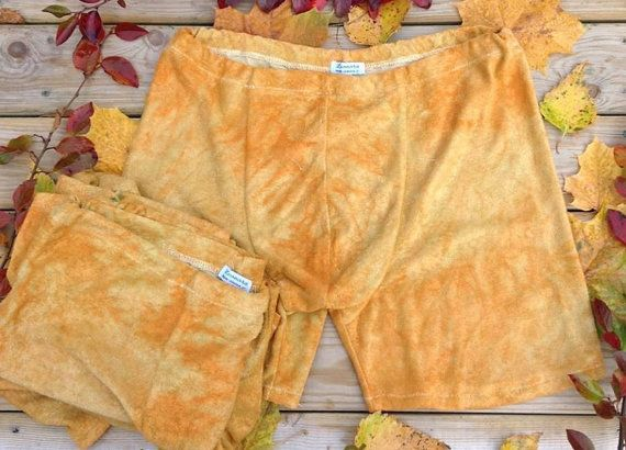 Leonorafi hand dyed bamboo boxers for men size M, soft and comfortable