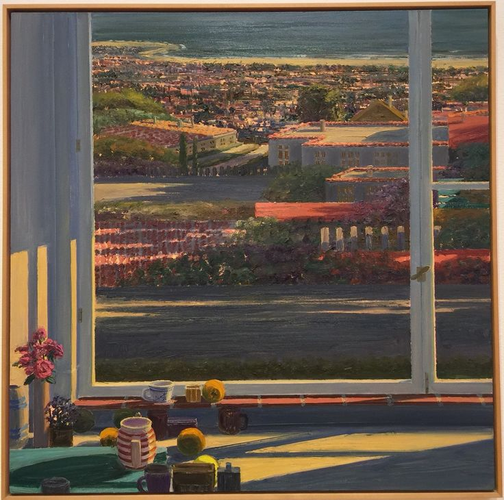 View from Brodiea Avenue by Larry Cohen (1987) Laguna Art Museum