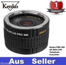 Genuine NEW Kenko 2X Teleplus Pro 300 DGX Teleconverter for Nikon AF Lens 2.0X