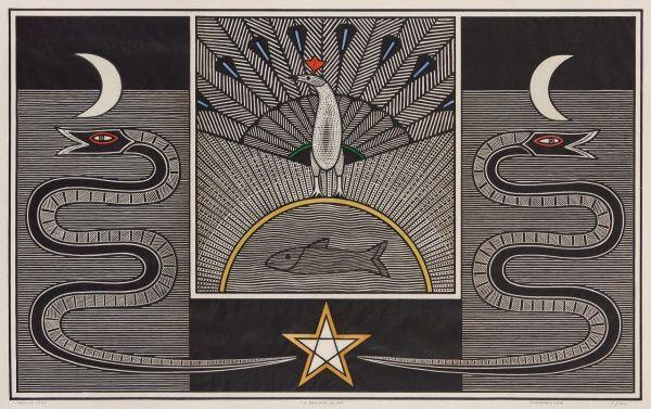 SAMICO, Gilvan - Xilogravura O Senhor do Dia. Ano: 1986. Obra rara pela Tiragem 1/120 e por ter si