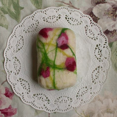 how to use felted soap