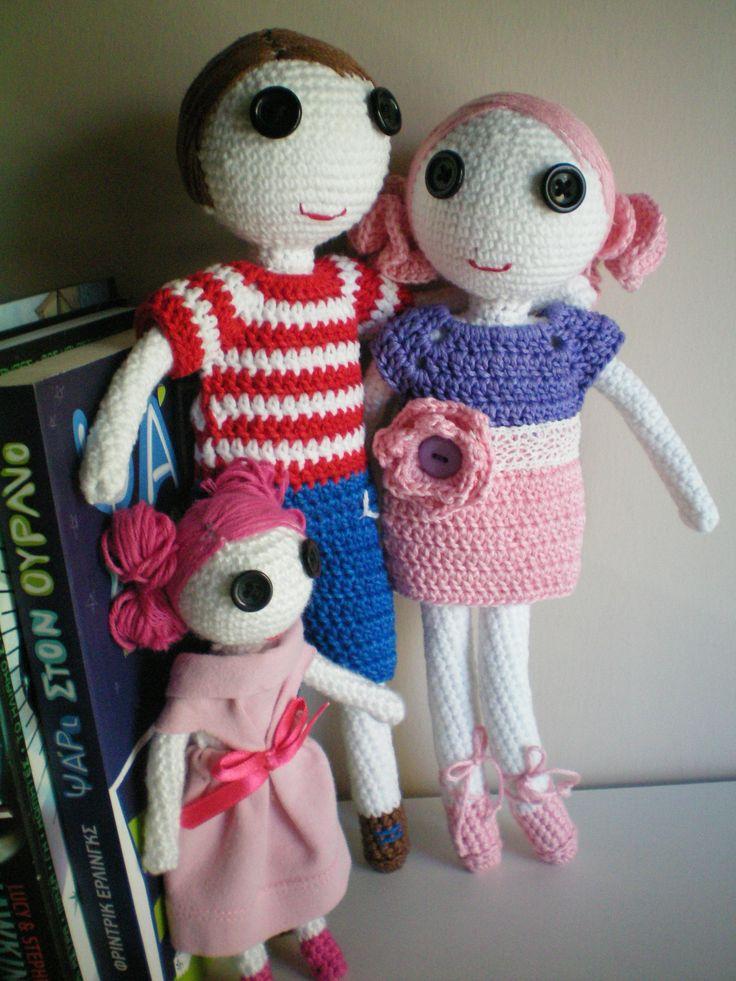handmade crochet family