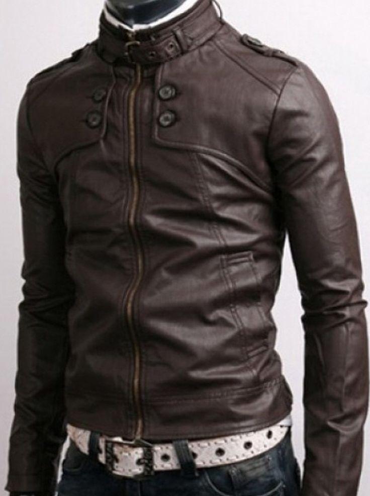 DARK BROWN LEATHER JACKET http://www.alanic.com/buy-mens-clothing/designer-jackets/leather-jacket-for-man/dark-brown-leather-jacket