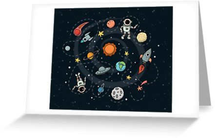 Outer Space Illustration by Gordon White   Greeting Cards Available @redbubble  --------------------------- #redbubble #sticker #greetingcards #greetingcarddesign #stationery  --------------------------- http://www.redbubble.com/people/big-bang-theory/works/22569162-outer-space-planetary-illustration?asc=u&p=spiral-notebook&rel=carousel
