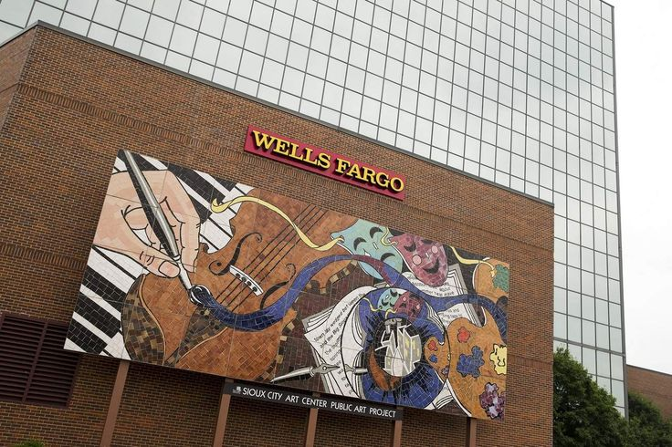 Arts Alive, a mosaic public art project by the Sioux City Art Center, was created by volunteers in 2002 and 2003 in front of the Wells Fargo building in ...