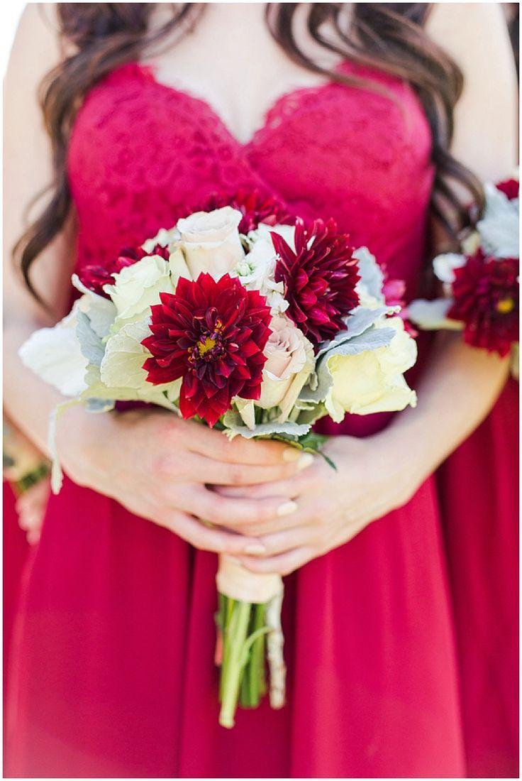 Khaki And Red Wedding Colors | The Budget Savvy Bride // Photography:  Kristi Gayton