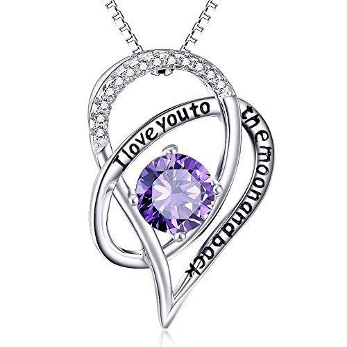 Mothers Day Gifts Gift For Mom Sterling Silver Necklace Pendant Purple Heart NEW #Kbrand