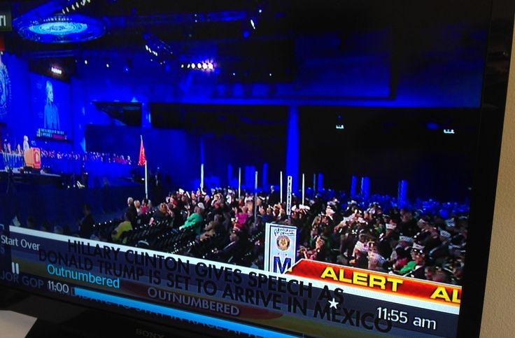 PHOTO: Dozens of empty seats for Hillary's speech to veterans - The American MirrorThe American Mirror