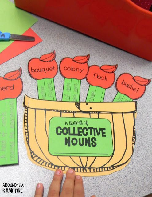 Apple activities-Collective nouns grammar craft for 2nd and 3rd grade.