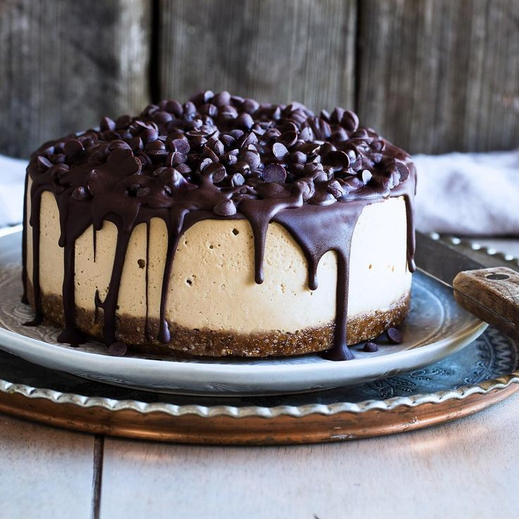 Vegan Mocha Chocolate Cheescake, open to see the recipe.
