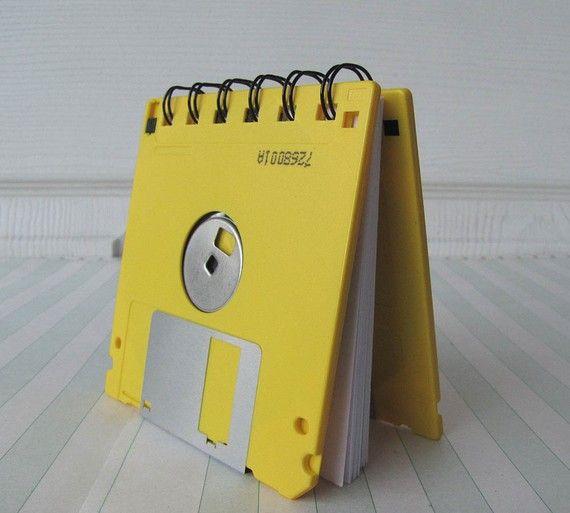 Bright Yellow Recycled Geek Gear Blank Floppy Disk
