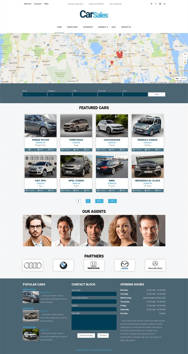 Ordasoft - Car Sales Drupal Car Dealer Theme -- Car Sales is new Drupal car dealer template with creative and modern design. Car Sales Drupal theme is perfect for car rental agencies, auto dealers, car advertisement sites and car dealer websites.