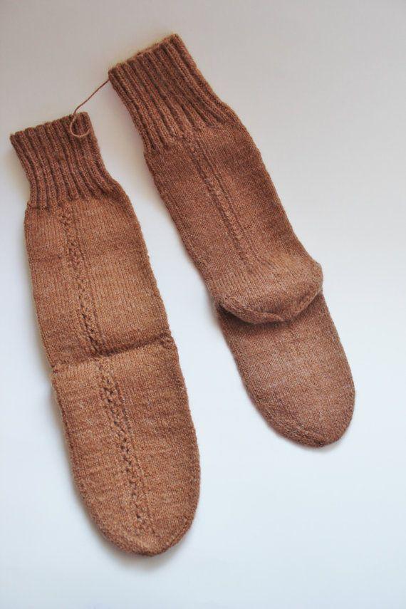 Handmade Knit winter socks,Handmade warm Winter accessories,women socks 8 inches long