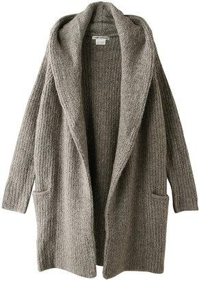 Cozy hooded knit coat / ShopStyle: Marilyn Moon マリリンムーン ウール混フード付きニットコート - shopstyle.co.jp