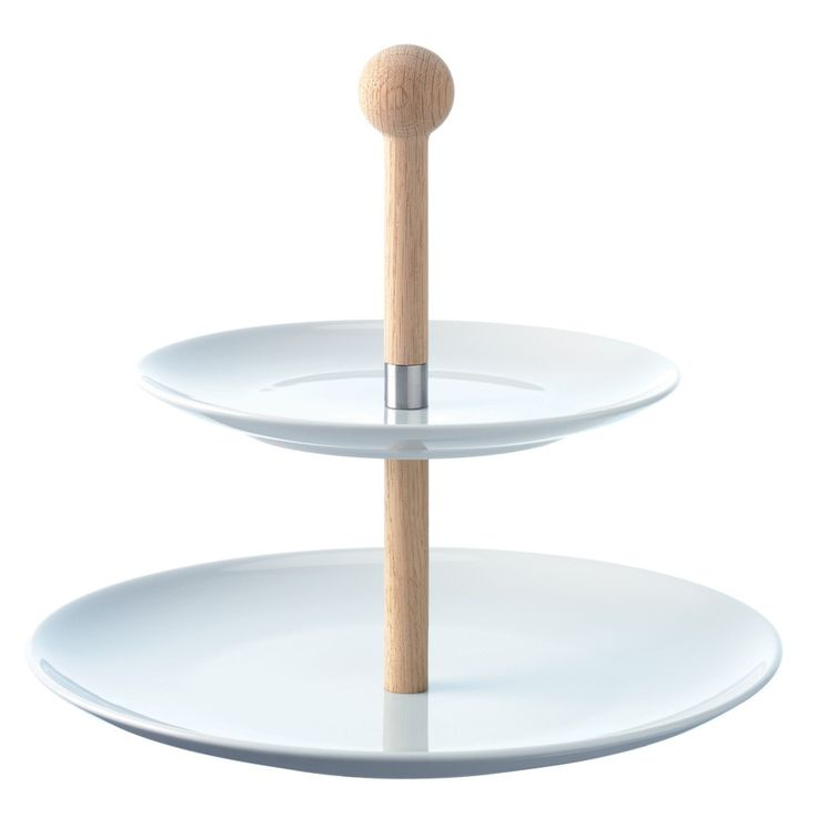 Discover the LSA Oak Stem Tiered Cake Stand - H25cm at Amara