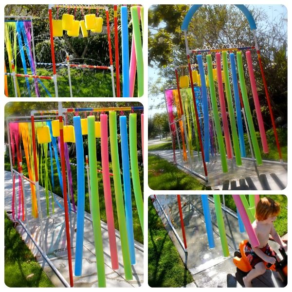 15 Easy DIY Projects to Make Your Backyard Awesome • A great roundup that has tons of Ideas and Tutorials for you! Including (from 'momfluential'), this cute diy drive through kid bike wash sprinkler.