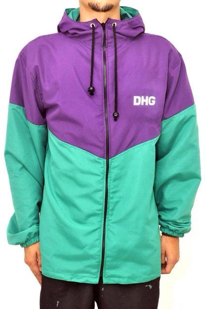 Jaqueta Corta Vento Dhg Clothing Esportivo Purple Green - Marca DHG Clothing 545ab81f3d