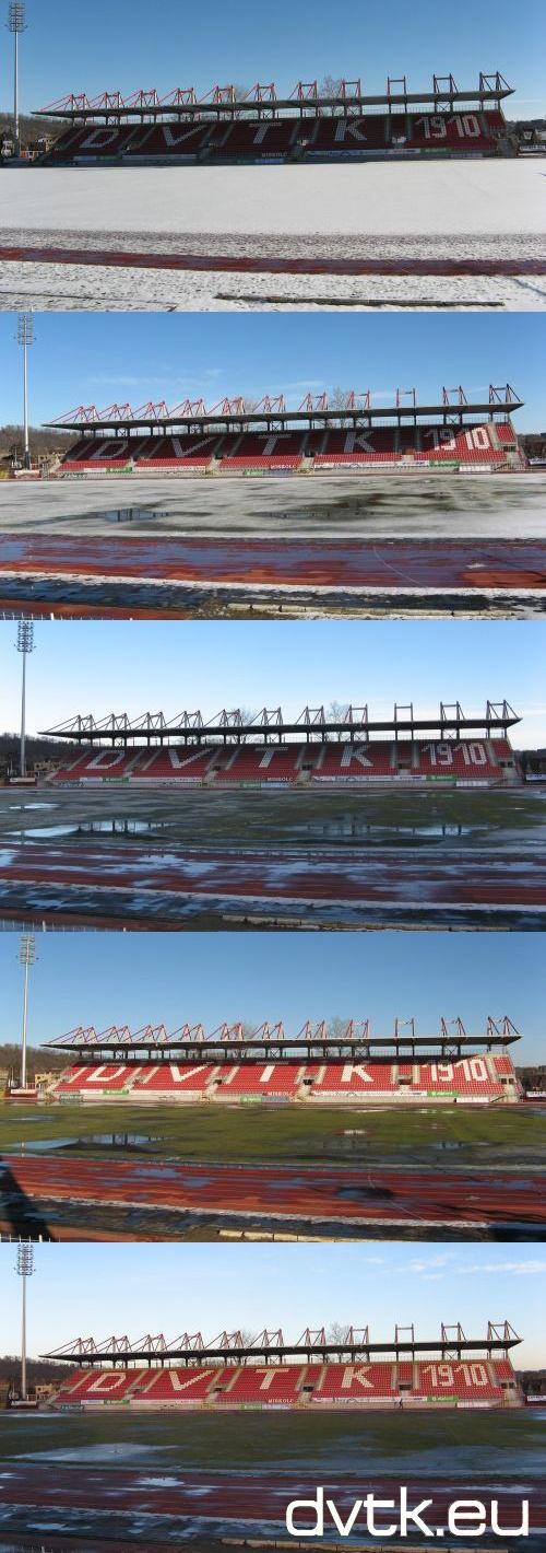 Januári tavasz a Diósgyőri Stadionban - reggeltől estig (2013. január 31.)