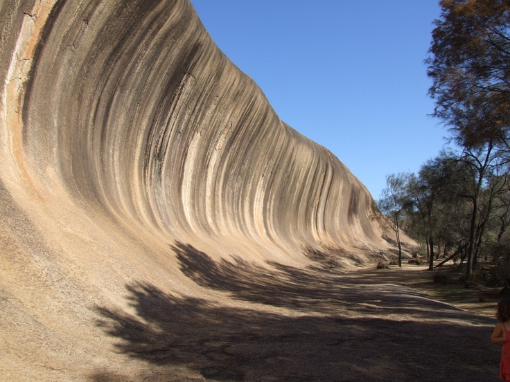 Wave rock perth Western Australia  A must see in the middle of now where!!