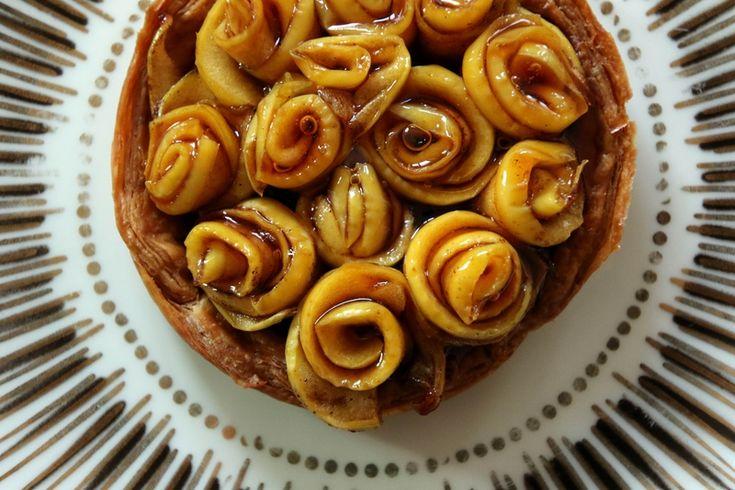 Tartelettes aux pommes façon bouquet de rose - Beau à la louche