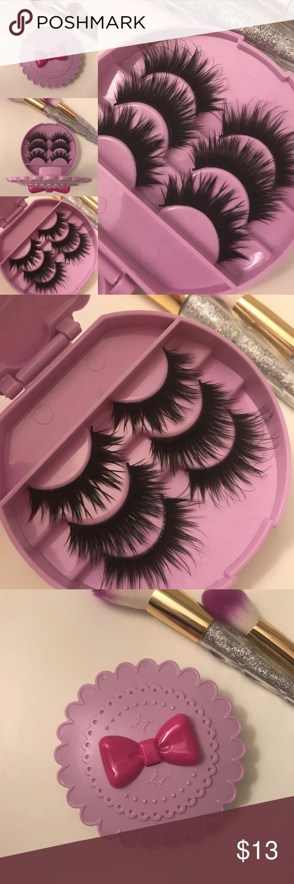 Wispy lashes + Eyelash Case # tags Iconic, mink, red cherry eyelashes, house of lashes, doll, kawaii, case, full, natural,  Koko, Ardell, wispies, Demi , makeup, kiss mascara, eyelashes, mink lashes, mink eyelashes,   Add on  applicator + $2 Add on glue +$3 Makeup False Eyelashes