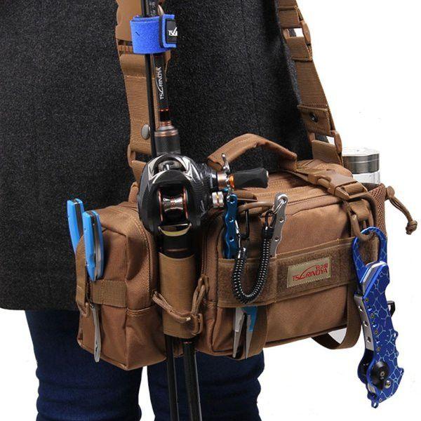 Trulinoya Multipurpose Fishing Bag Multifunction Fishing Tackle Bag Outdoor Bag Package