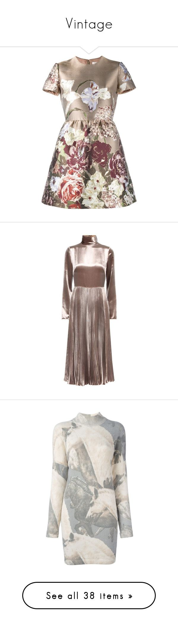 """Vintage"" by wanda-india-acosta ❤ liked on Polyvore featuring dresses, vestidos, short dresses, brown, short kimono dress, flared skirt, circle skirt, short-sleeve dresses, velvet and neutrals"