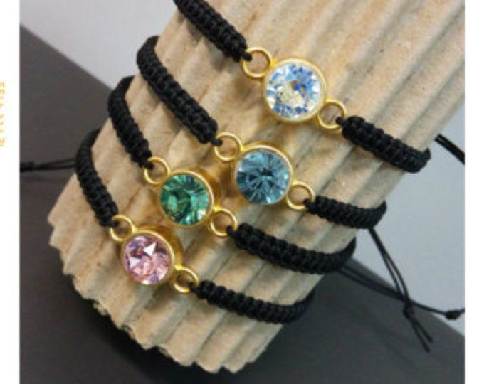 Macrame Swarovski crystal bracelet