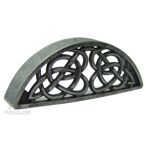 Home > Abstract Designs > Celtic Style: Abstract Designs Decorative Hardware Celtic Style Cup Pull in Antique Pewter