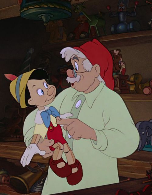 Day 5- Favorite Hero. Pinocchio and Gepetto- they're both so human. You fall in love with both of them.