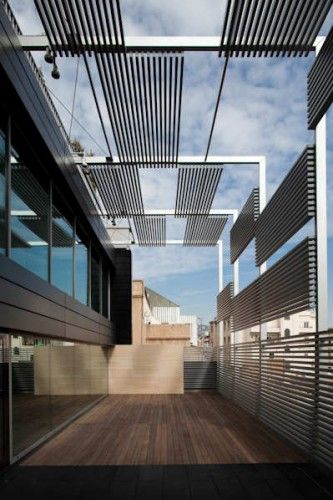 Asepeyo Building by Ventura Valcarce Arquitecto in Barcelona (brise soleil!)