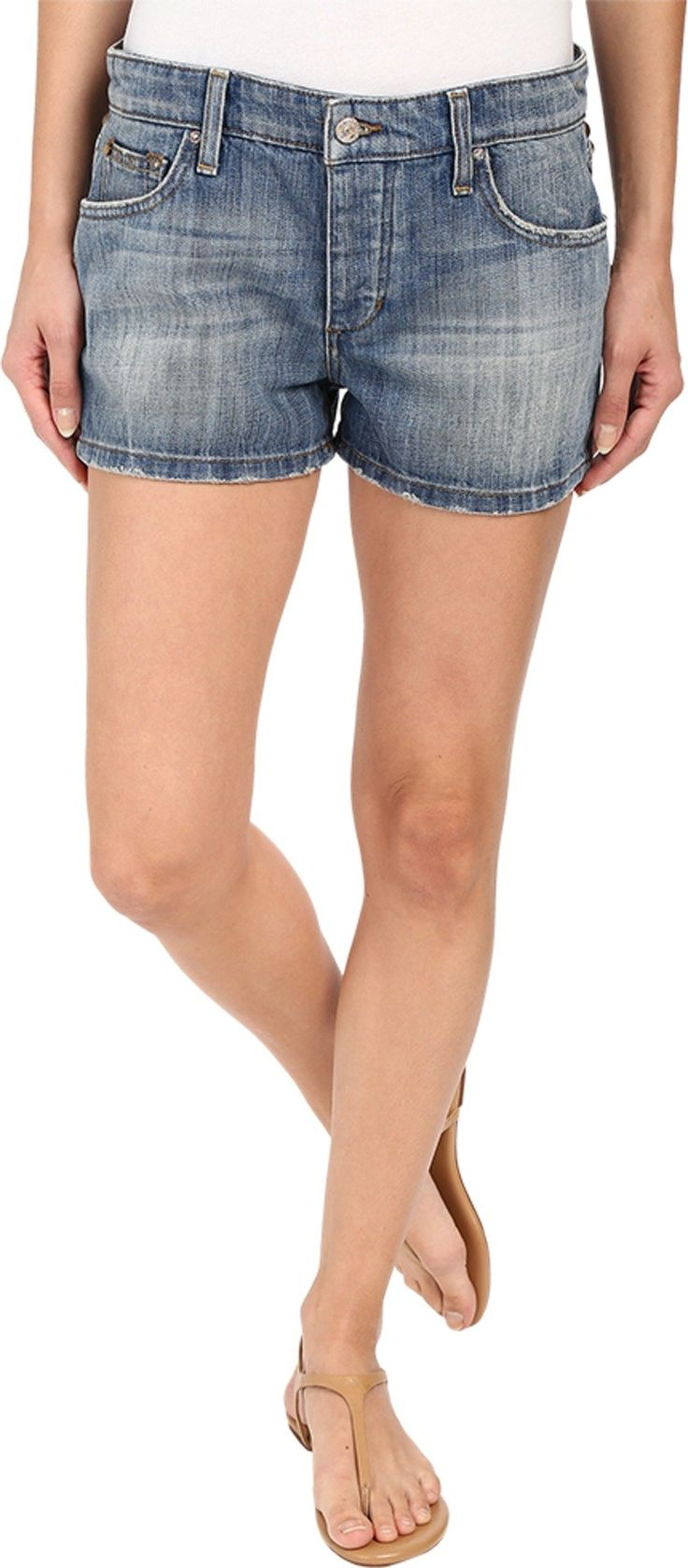 Joe's Jeans Women's Billie Shorts w/ Phone Pocket Janelle Shorts 29 X 2. The Billie Short features a boyfriend fit with a slouchy top block and mid-thigh length. Janelle is a medium wash that has been treated with whiskers and sandblasting for a dirty brown cast. 11.75 oz rigid denim. Brass-tone hardware. Contrast topstitching. Aged rivet hardware accents the back yoke. Contrast patch-replacement detail at the back waist. Leather logo patch set at back pocket. Five-pocket design with...
