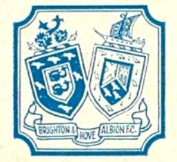 The first known Brighton & Hove Albion FC crest/badge was the 1946-1975 design depicting the shields of the twin towns of Brighton & Hove #bhafc