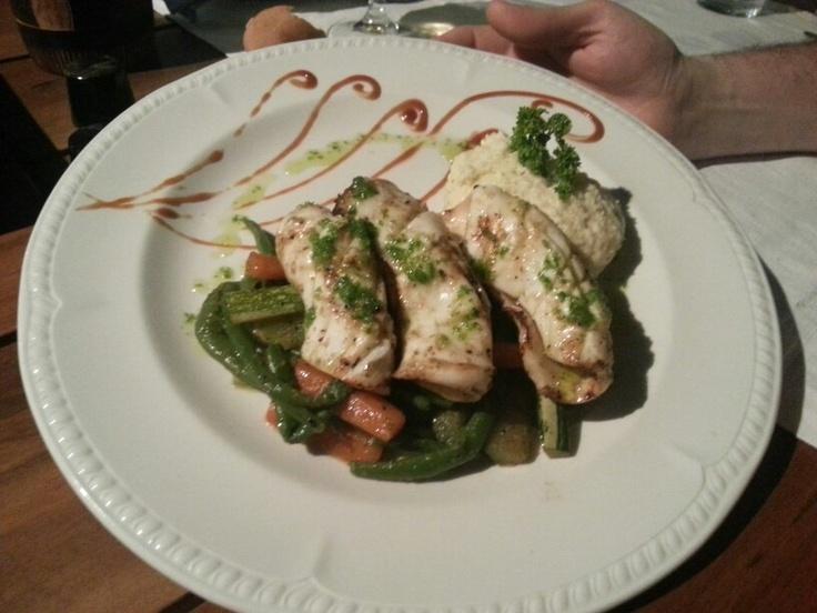 Good food at Karibo restaurant in Ambatoloaka
