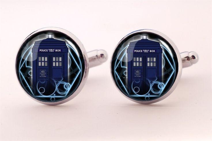 TARDIS Cuff links, 337CS from EgginEgg by DaWanda.com