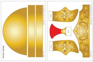 Colored Roman Imperial helmet template