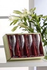 Galway Crystal Kells Goblets Set of 4