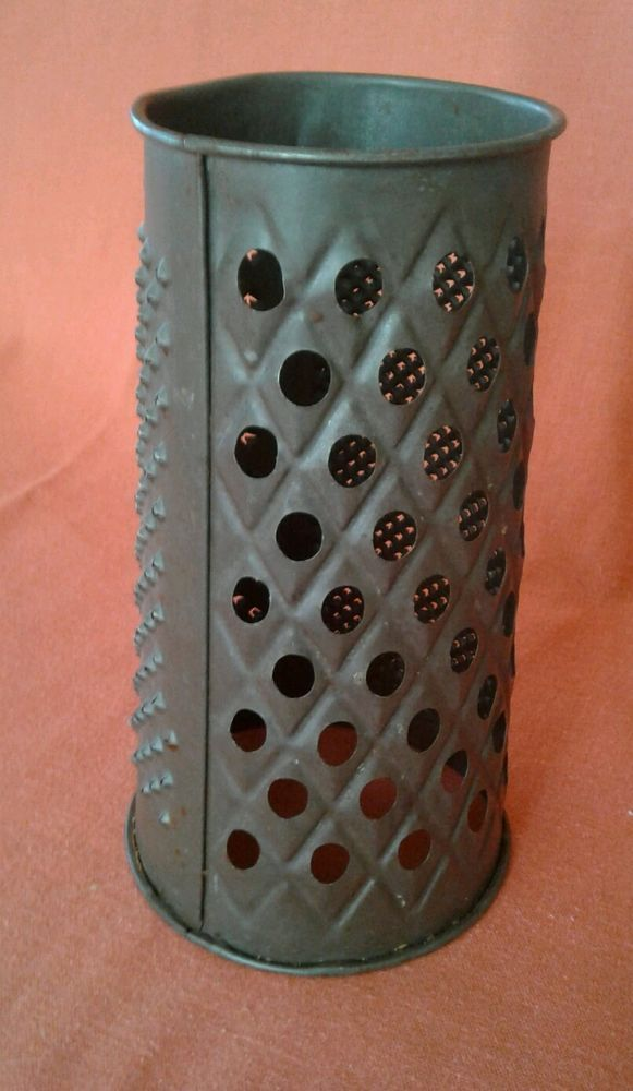 Scarce Early Antique Acme Round Victorian Grater Marked RD36500