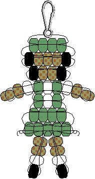 Girl Scout pony bead pattern.  Can change colors for Daisies and Brownies. How cute!