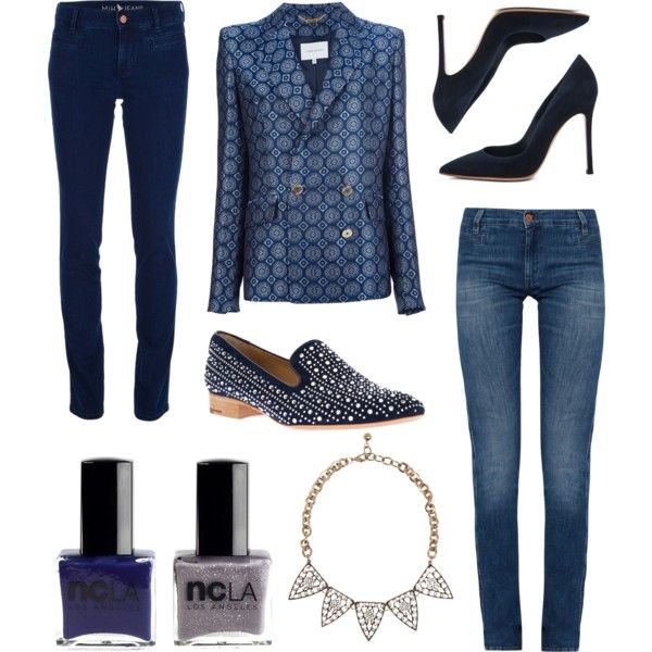 """Wear denim for work"" by stockholmmarket on Polyvore"