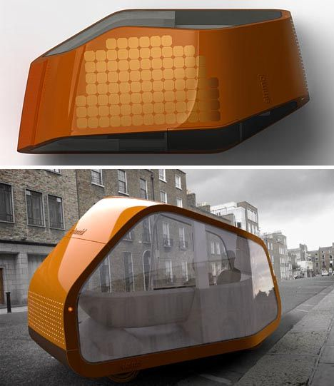 Driverless Self Parking (Post)Modern Mobile Home Design