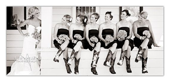 Awesome picture!: Cowgirl Boots, Pictures Ideas, Photo Ideas, Wedding, The Bride, Bridal Parties, Cowboys Boots, Bridesmaid Pictures, Cute Pictures