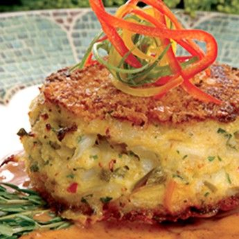 Blue Crab Cakes with Tangy Butter Sauce