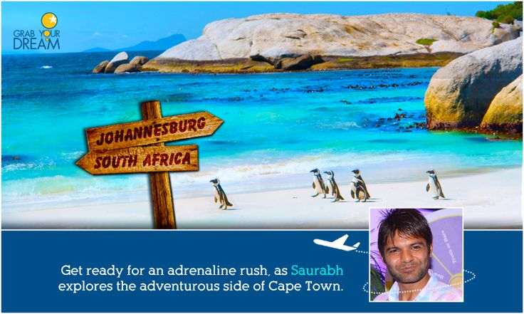 Located at the tip of Africa, Saurabh is ready to grab his dream at Cape Town. Click here to know more about his trip: http://cnk.com/gydcapetown