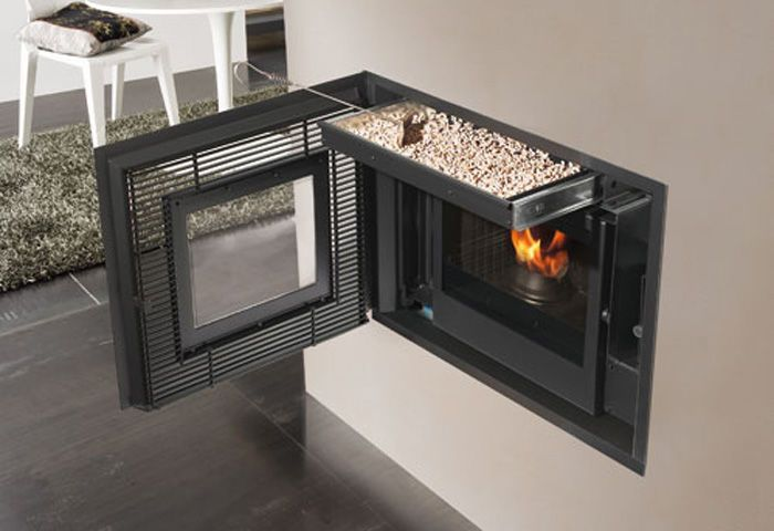 Pellet fireplace insert / 1-sided - INPELLET - EDILKAMIN                                                                                                                                                                                 More
