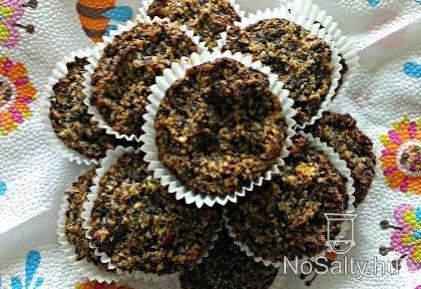 Mákos-almás-sárgarépás paleo muffin